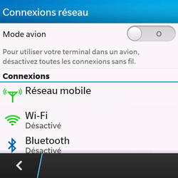 BlackBerry Q10 - Wifi - configuration manuelle - Étape 4