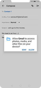 Huawei Mate 20 Pro - Email - Sending an email message - Step 11