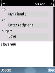 Nokia E75 - Email - Sending an email message - Step 8