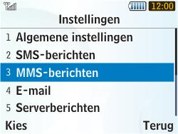 Samsung S3350 Chat 335 - MMS - handmatig instellen - Stap 15