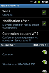 Samsung S7500 Galaxy Ace Plus - Wifi - configuration manuelle - Étape 8