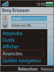 Sony Ericsson W595 - Internet - Configuration manuelle - Étape 5