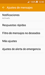 Samsung Galaxy J1 (2016) (J120) - Mensajería - Configurar el equipo para mensajes de texto - Paso 6
