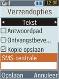 Samsung B2100 Xplorer - SMS - Handmatig instellen - Stap 7