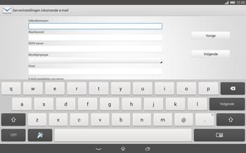Sony Xperia Tablet Z2 (SGP521) - E-mail - e-mail instellen: POP3 - Stap 8