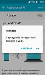 Samsung Galaxy J1 - Wi-Fi - Como usar seu aparelho como um roteador de rede wi-fi - Etapa 12