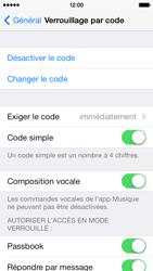 Apple iPhone 5c - Sécuriser votre mobile - Activer le code de verrouillage - Étape 8