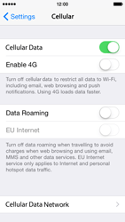Apple iPhone 5s - iOS 8 - Internet - Disable data roaming - Step 5