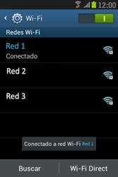 Samsung S6310 Galaxy Young - WiFi - Conectarse a una red WiFi - Paso 8