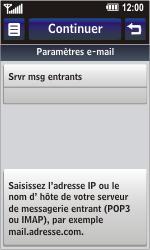 LG GC900 Viewty Smart - E-mail - Configuration manuelle - Étape 12