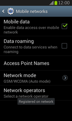 Samsung S7710 Galaxy Xcover 2 - Network - Usage across the border - Step 12