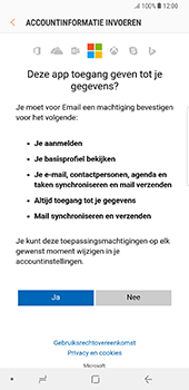 Samsung Galaxy Note 8 - E-mail - Handmatig instellen (outlook) - Stap 9