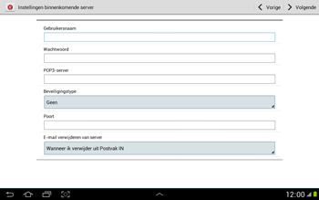 Samsung N8000 Galaxy Note 10-1 - E-mail - Handmatig instellen - Stap 9