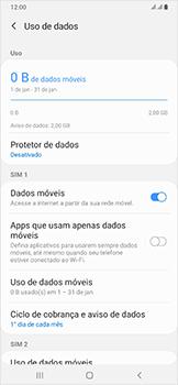 Samsung Galaxy A50 - Rede móvel - Como definir um aviso e limite de uso de dados - Etapa 6