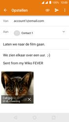 Wiko Fever 4G - E-mail - hoe te versturen - Stap 14
