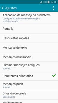 Samsung N910F Galaxy Note 4 - Mensajería - Configurar el equipo para mensajes de texto - Paso 6