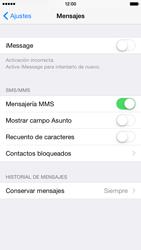 Apple iPhone 6 iOS 8 - Mensajería - Configurar el equipo para mensajes multimedia - Paso 12