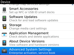 BlackBerry 9900 Bold Touch - Settings - Configuration message received - Step 5