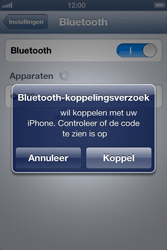 Apple iPhone 4S met iOS 6 (Model A1387) - Bluetooth - Headset, carkit verbinding - Stap 6