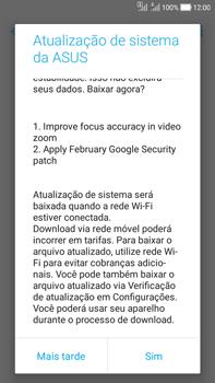 Asus Zenfone Selfie - Funções básicas - Como atualizar o software do seu aparelho - Etapa 5