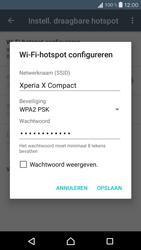 Sony Xperia X Compact (F5321) - WiFi - Mobiele hotspot instellen - Stap 9