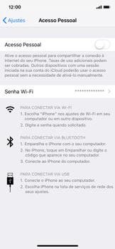 Apple iPhone iOS 12 - Wi-Fi - Como usar seu aparelho como um roteador de rede wi-fi - Etapa 6