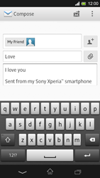 Sony C5303 Xperia SP - E-mail - Sending emails - Step 10