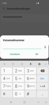 Samsung Galaxy S10 - Voicemail - handmatig instellen - Stap 13