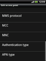 HTC A3333 Wildfire - MMS - Manual configuration - Step 10