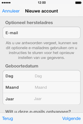 Apple iPhone 4 S iOS 7 - Applicaties - Account instellen - Stap 14