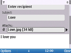 Nokia E5-00 - Email - Sending an email message - Step 13