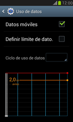 Samsung Galaxy S3 Mini - Internet - Ver uso de datos - Paso 5