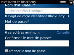 BlackBerry 9720 Bold - BlackBerry activation - BlackBerry ID activation - Étape 10