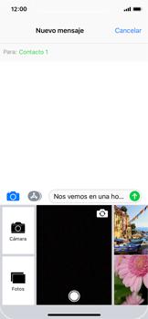 Apple iPhone X - Mensajería - Escribir y enviar un mensaje multimedia - Paso 11