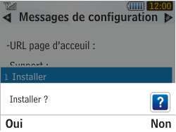 Samsung S3350 Chat 335 - Internet - configuration automatique - Étape 7
