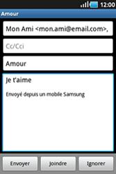 Samsung Galaxy Ace - E-mails - Envoyer un e-mail - Étape 8