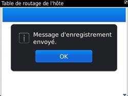 BlackBerry 9790 Bold - Paramètres - Message de configuration reçu - Étape 8