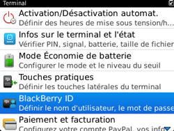 BlackBerry 9320 Curve - BlackBerry activation - BlackBerry ID activation - Étape 5