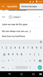 Fairphone Fairphone 2 - E-mail - Bericht met attachment versturen - Stap 11