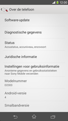 Sony D2303 Xperia M2 - Software updaten - Update installeren - Stap 5