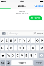 Apple iPhone 4S (iOS 8) - Contact, Appels, SMS/MMS - Envoyer un SMS - Étape 9