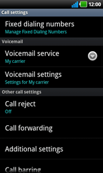 LG P920 Optimus 3D Speed - Voicemail - Manual configuration - Step 5