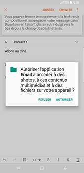 Samsung Galaxy S8 Plus - E-mail - envoyer un e-mail - Étape 12