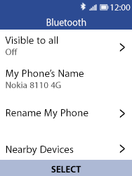 Nokia 8110 Banana - Bluetooth - Pair with another device - Step 6