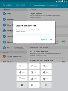 Samsung Galaxy Tab A - Sécuriser votre mobile - Personnaliser le code PIN de votre carte SIM - Étape 9