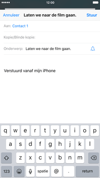 Apple iPhone 6S Plus iOS 9 - E-mail - E-mail versturen - Stap 7