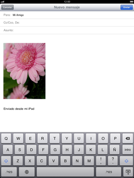 Apple iPad 2 - E-mail - Escribir y enviar un correo electrónico - Paso 9
