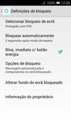 Alcatel Pixi 3 - Segurança - Como ativar o código de bloqueio do ecrã -  11