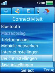Sony Ericsson W100i Spiro - Mms - Handmatig instellen - Stap 4