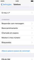 Apple iPhone 5s iOS 9 - Chamadas - Como bloquear chamadas de um número -  4
